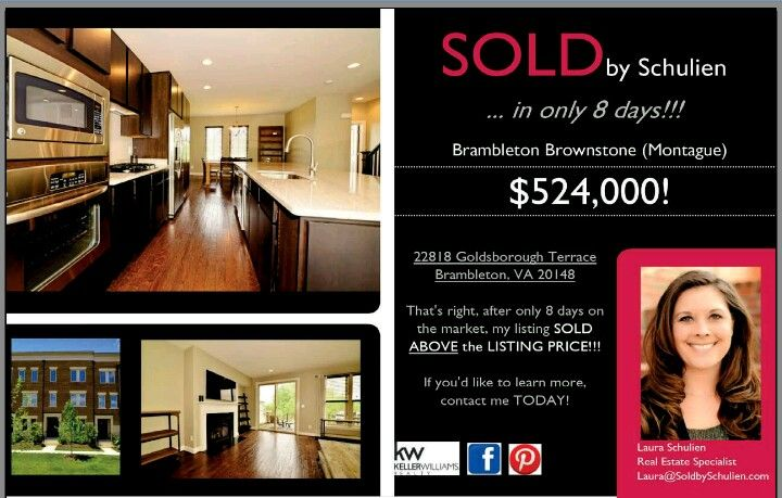 SOLD by Schulien... in only 8 days (ABOVE the Listing Price)!!!