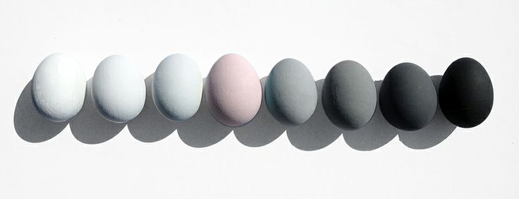 Egg Painted in Loft White, Shallows, Inox, Pink Slip, Urbane Grey, Grey Teal, Scree and Lamp Black!!