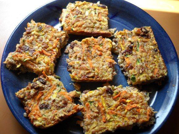Carrot Zucchini bars | Food | Pinterest