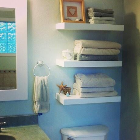 White Floating Bathroom Shelves Bathroom Pinterest