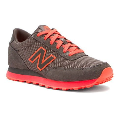 Womens New Balance Shoes WL501 Grey Suede Red