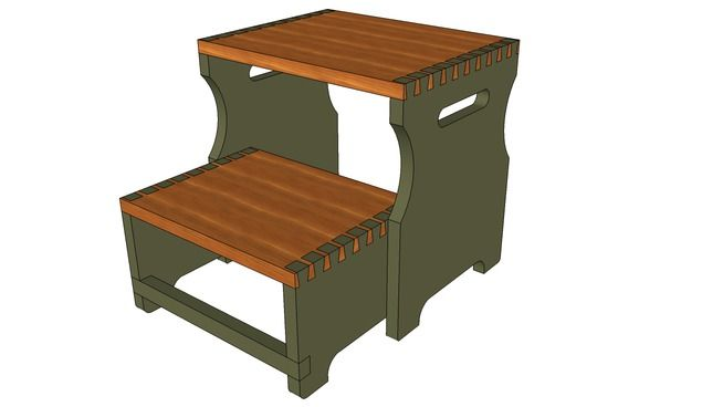 Folding step stool chair plans folding step stool plan step stool