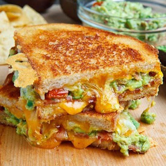 Bacon Guacamole Grilled Cheese Sandwich | Salads Vegetables Soups ec ...