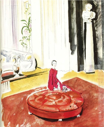 Cecil Beaton water color of Marie Blanche de Polignac, heiress to the Lanvin fashion fortune