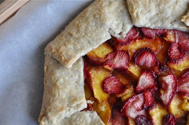 strawberry nectarine galette #realsimple #dessert #fruit #galette