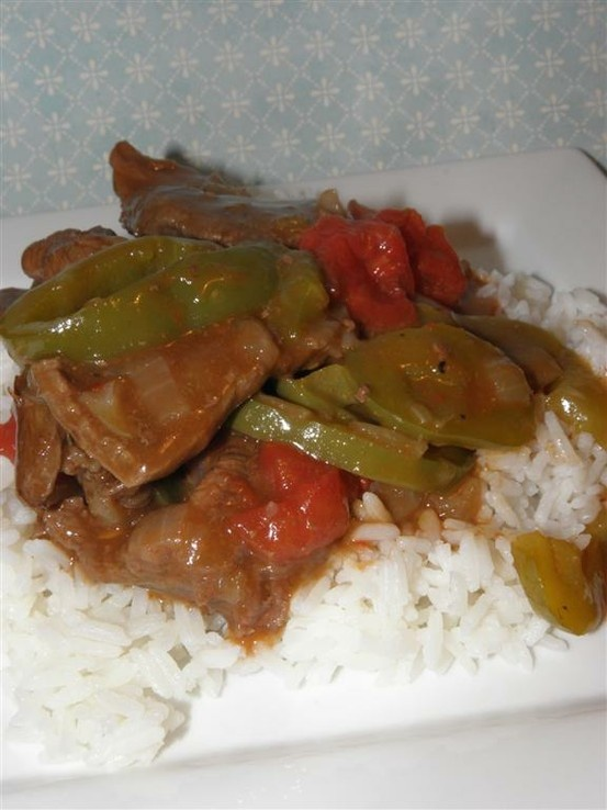 Pepper Steak. Didn't follow every word, but it's a good base recipe t...
