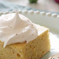 Skinny Eggnog Cake | Sounds good to me | Pinterest