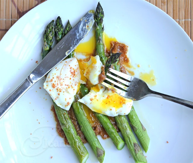 """Roasted Asparagus with Poached Egg and Miso """"Butter""""   Recipe"""