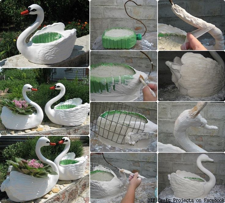 diy craft projects swans garden decor crafts