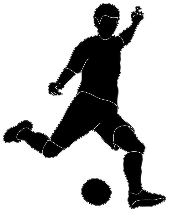 Black And White Ball Clip Art Soccer Player Kicking Ball Clip Art