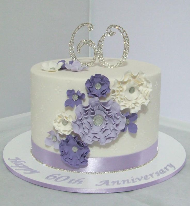 60th Wedding Anniversary Cake Food Pinterest