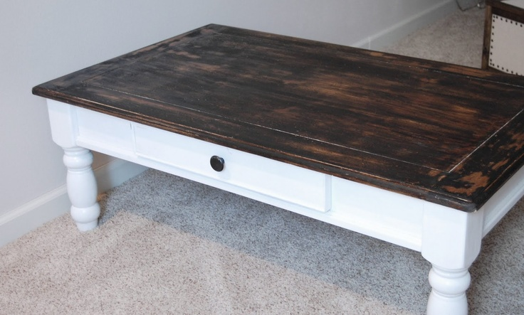 refinish coffee table craft pinterest