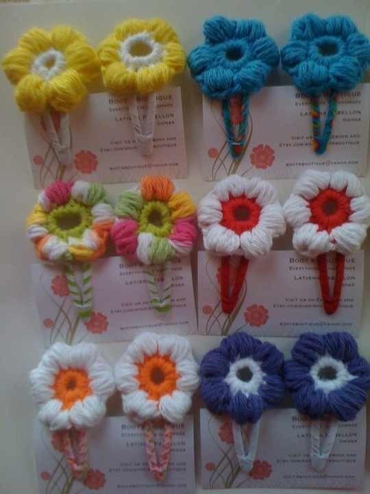Crochet Hair Pins : Hair Pins