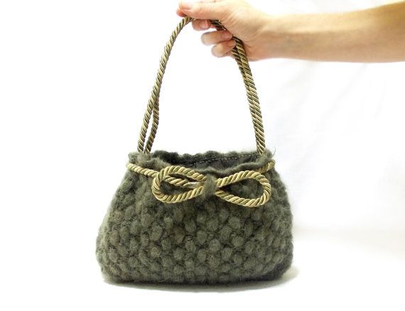 ... Shipping Green crochet tote bag Handmade crochet by aynikki, $54.00