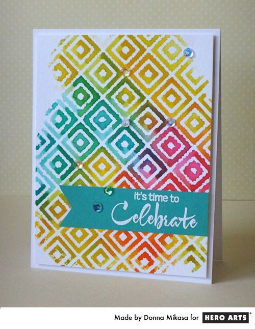 celebrate card by Donna Mikasa