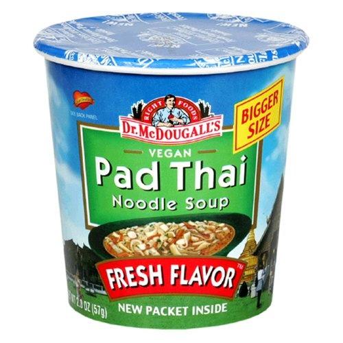 Dr. McDougall's Right Foods Vegan Pad Thai Noodle Soup, Fresh Flavor ...