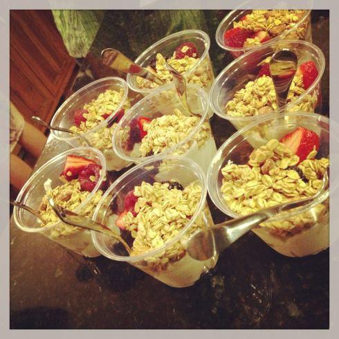 Breakfast Parfait Greek Yogurt Berries: blueberries plus strawberries ...
