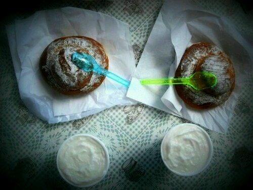 Sicilian breakfast: granita and brioche.   Food Blog: Chocolate Spoon ...