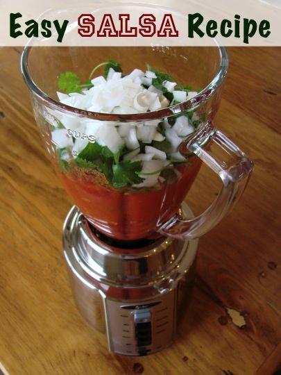 Easy Salsa Recipe at TheFrugalGirls.com {SO yummy!} #salsa #recipes