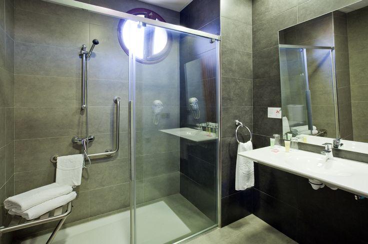 Baño Accesible Medidas:Nuestro baño #accesible de la habitación #adaptada presenta medidas