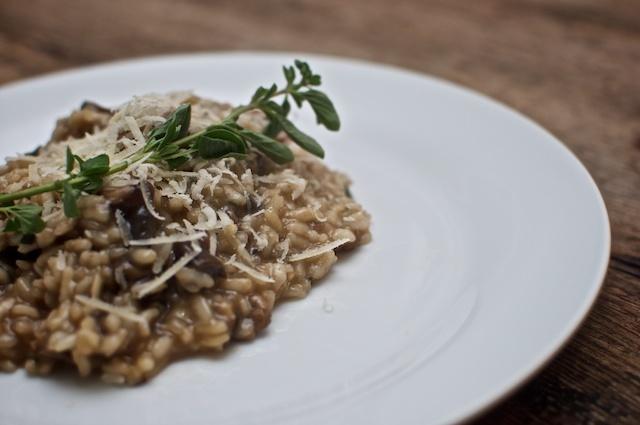 Fish and Veggies: Italian Sweet Sausage and Mushroom Risotto