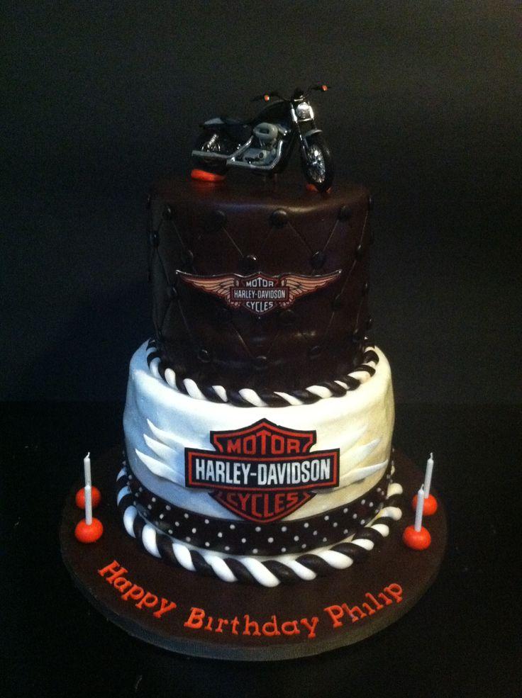 Harley Davidson birthday cake  Cake Decorating Ideas  Pinterest