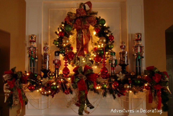 Christmas nutcracker mantel  Christmas Decor  Pinterest ~ 222853_Christmas Decorating Ideas With Nutcrackers