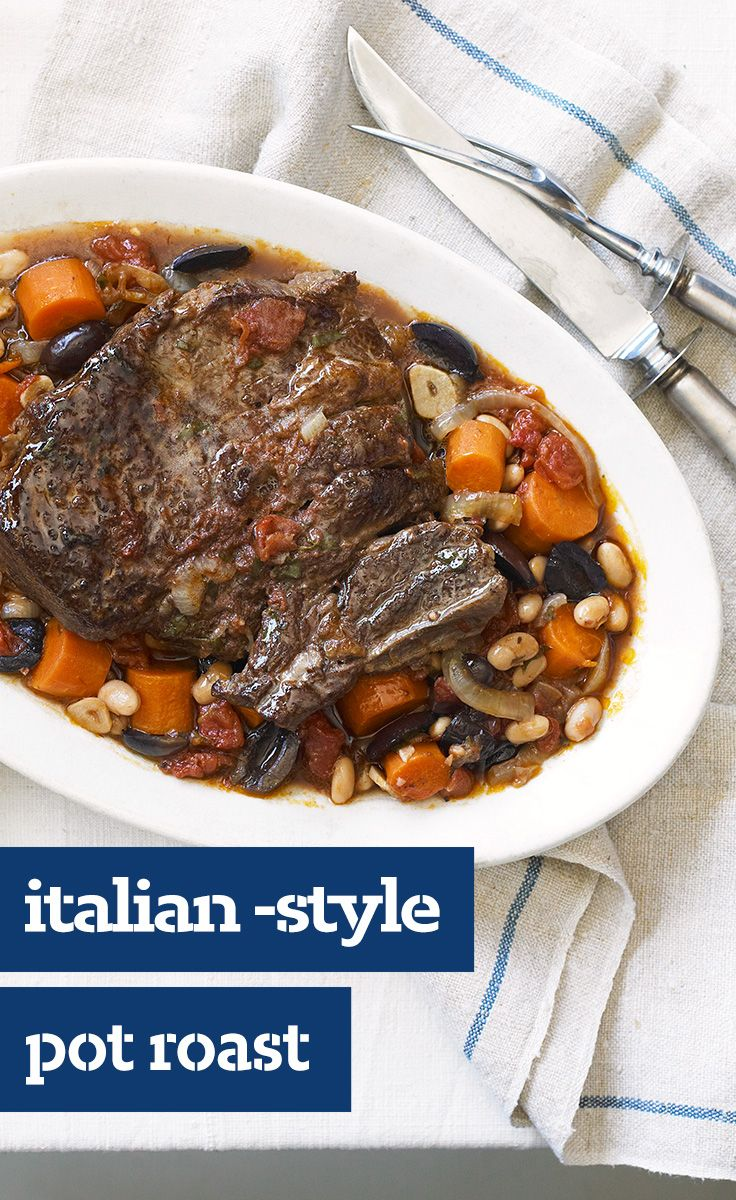 Braised Italian-Style Pot Roast Recipe — Dishmaps