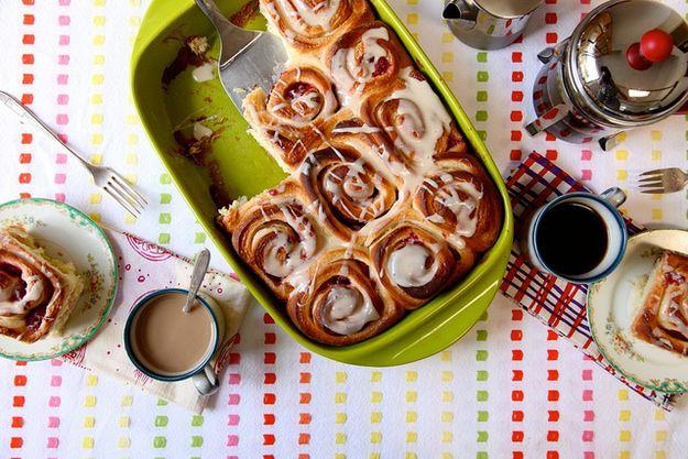 Lemon Raspberry Breakfast Rolls   Food   Pinterest
