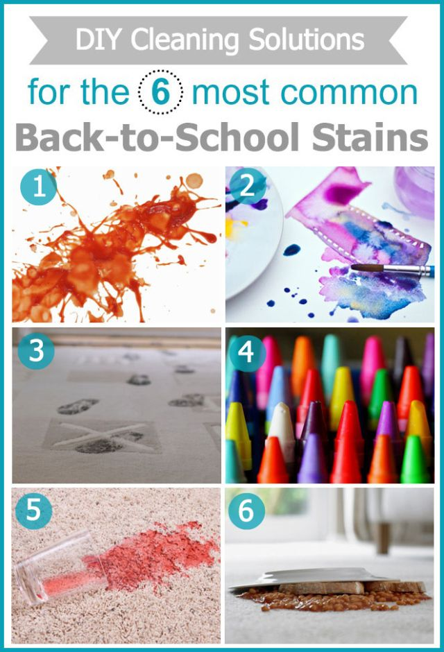6 DIY Cleaning Solutions for Common Back-to-School Stains