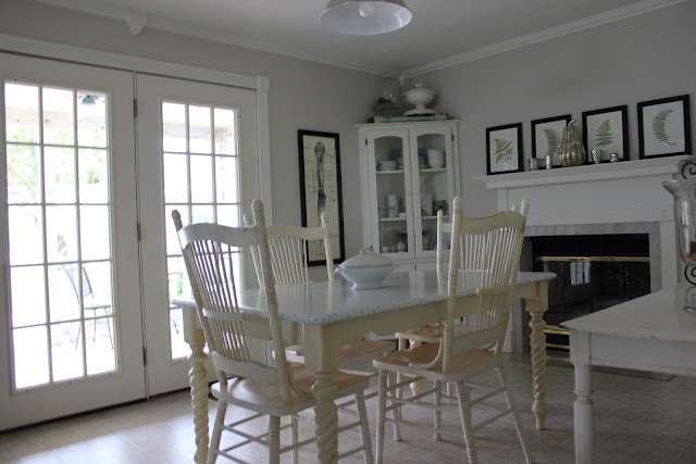 Benjamin Moore Natural Cream. Has a gray look to it. May be just what ...