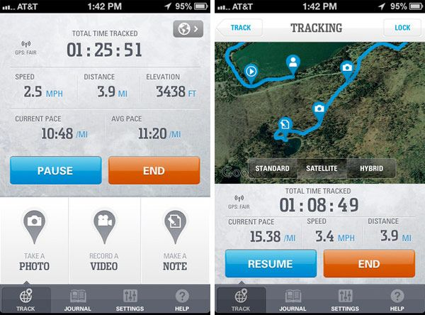 walk tracker app ios