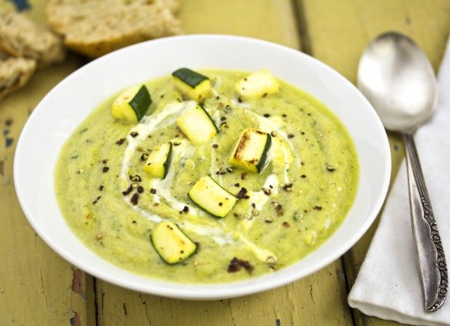 Roasted Garlic Zucchini Soup - sub unsweetened soymilk for milk and ...