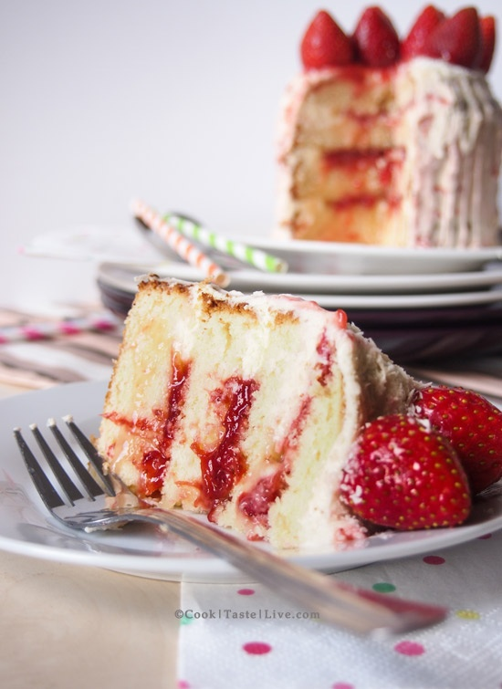 strawberry birthday cake. A moist and light lemony cake, with lemon ...