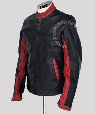 135.00 - Batman Dark Knight Leather Jacket #BatmanJacket