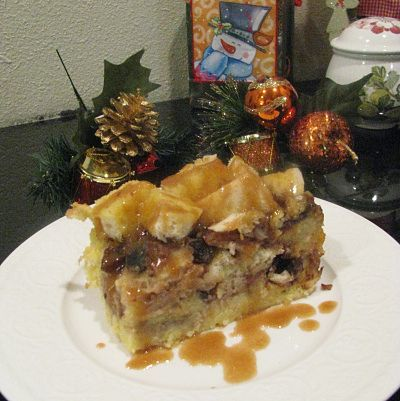Banana bread pudding with rum sauce. | Everything | Pinterest