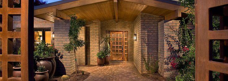 Exterior adobe brick housing exterior design pinterest