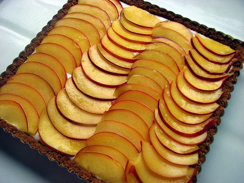 Nectarine Tart in a Gingersnap Crust | sweets for my sweet | Pinterest