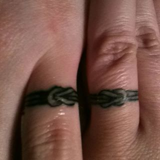 Wedding band tattoos cool tattoos pinterest for Mens wedding band tattoos