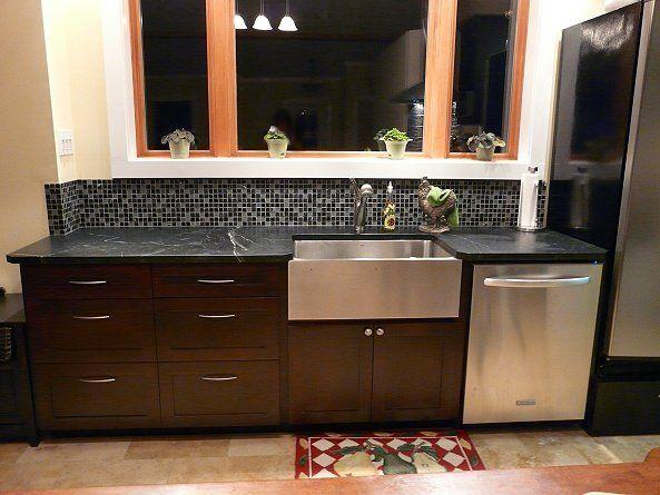 Stainless steel farmhouse sink galley kitchen remodel pinterest