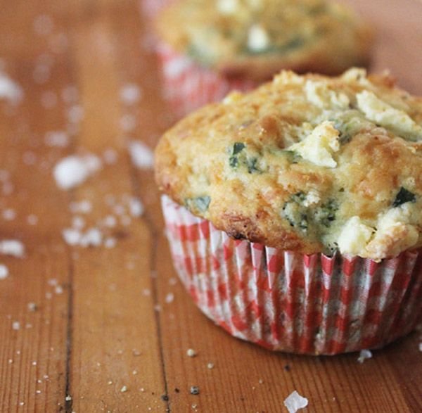 spinach amp feta muffin could also make ham amp cheese muffins