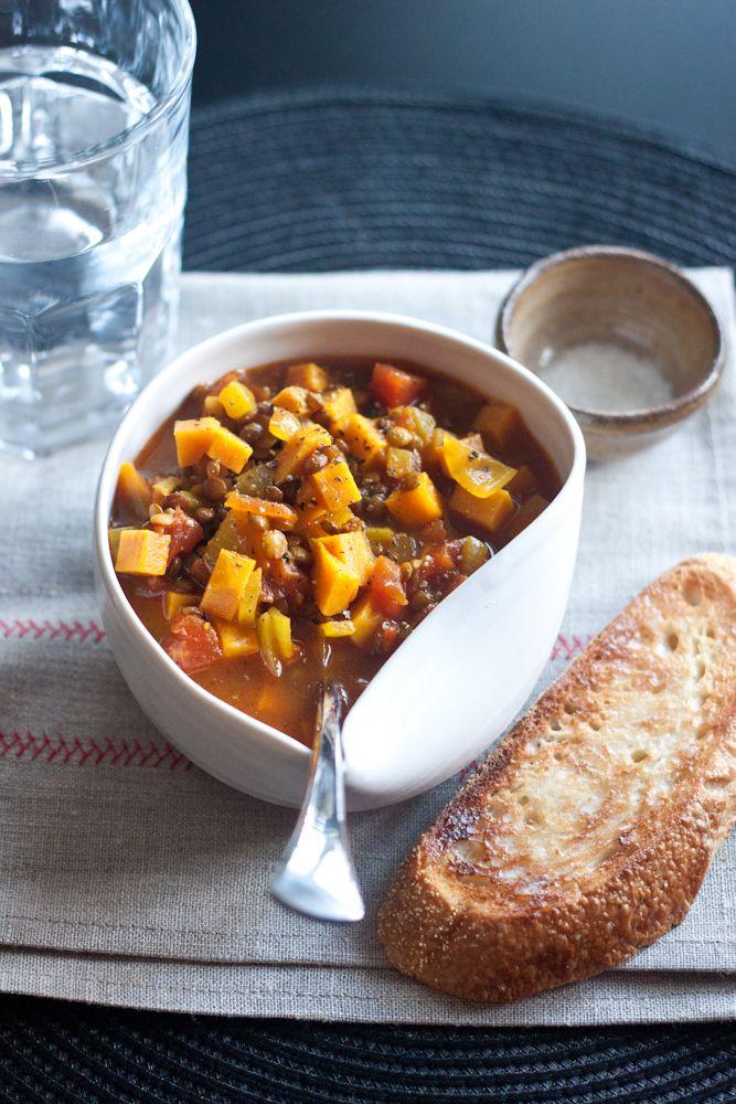 Lentil And Sweet-Potato Stew Recipe — Dishmaps
