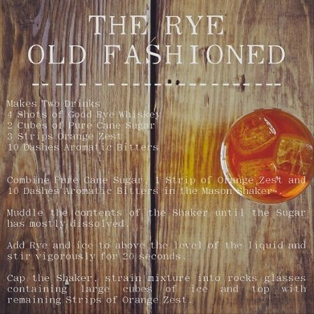 Rye Old Fashioned....love it, but then again, this is my drink