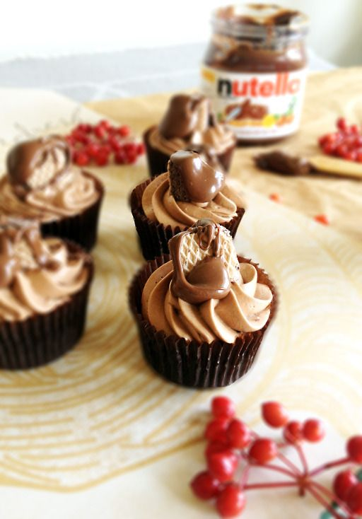 ... Nutella cupcake: chocolate cupcake + nutella cream cheese frosting