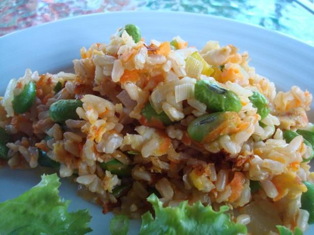 Asian Edamame Fried Rice | Recipe