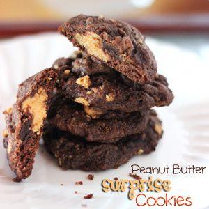 Peanut Butter Surprise Cookies | Recipe