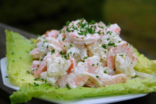 ... papas con camarones or shrimp potato salad recipe | Laylita's recipes