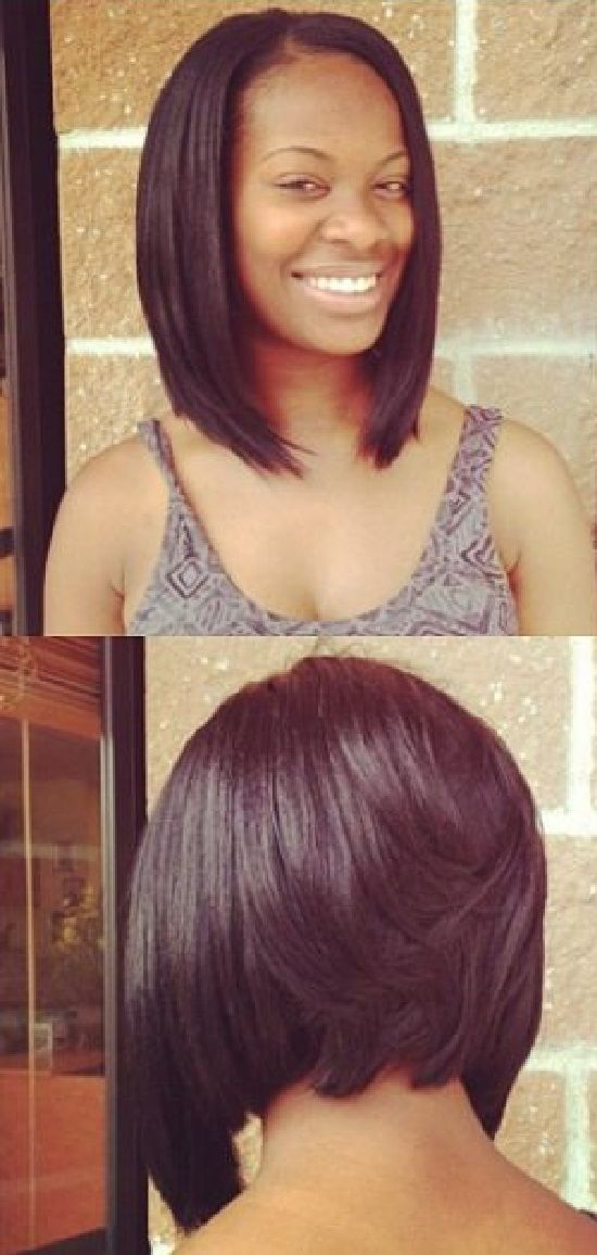 short bob hairstyle front and back view | Confidence is what makes a ...