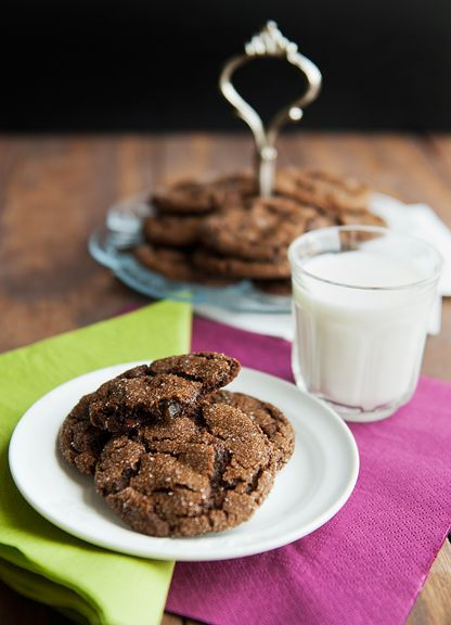 Chocolate gingerbread cookies | Death by Sugar | Pinterest