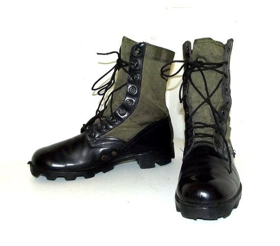 Green and Black Military Jungle Combat boots - Ro Search ...